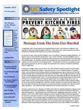 October 2013 Fire Prevention